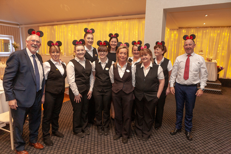 The Park Hotel team (Mary at the rear centre)