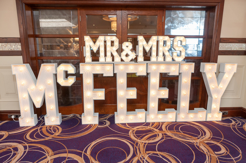 Mr & Mrs McFeely by Scene Setters of Omagh.