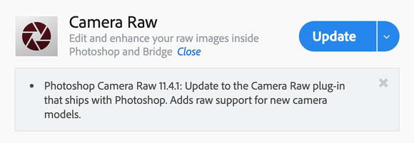 Adobe CC Camera Raw plug-in image