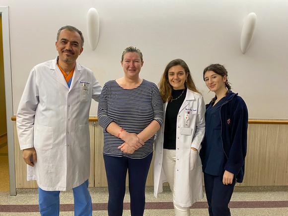 Dr Ali Solmaz, Kathy, R. İrem Uysal, Nutritionist, and team member. Camlıca Erdem Hospital