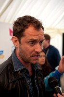 Jude Law giving interviews in Derry, Northern Ireland